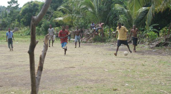 le foot à l'Île à Vache